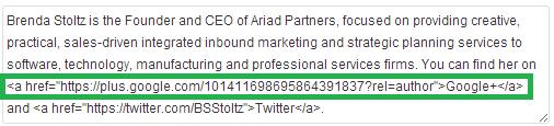 Add Google Plus Profile to Bio
