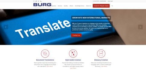 burg translations website image